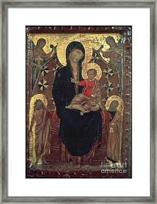 Madonna And Child Framed Print by Granger