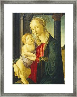 Madonna And Child Framed Print by Sandro Botticelli