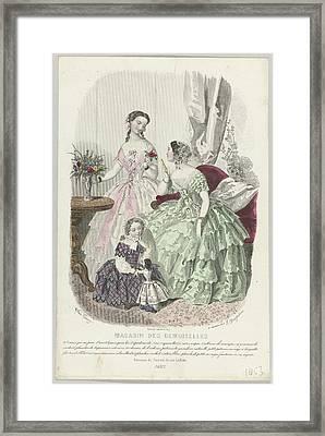 Magasin Des Demoiselles Framed Print by Celestial Images