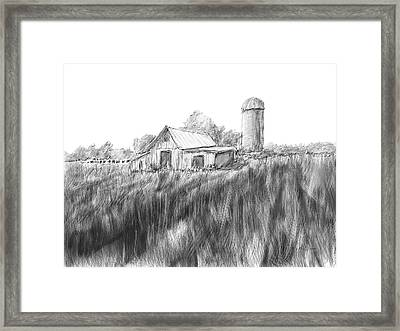 Making Hay Framed Print by Barry Jones