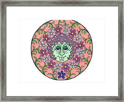 Goofy Green Witch Framed Print