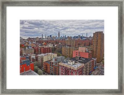 Framed Print featuring the photograph Manhattan Landscape by Joan Reese