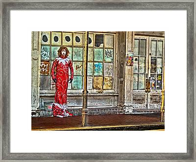 Mardi Gras Queen Framed Print