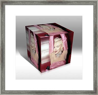 Marilyn Monroe Diamonds Are A Girls Best Friend Framed Print