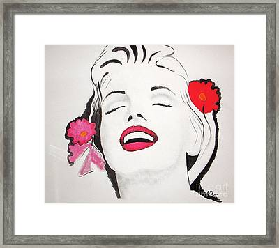 Marilyn Monroe Framed Print by Vesna Antic