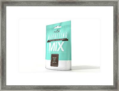 Marketing Mix 4 P's Framed Print