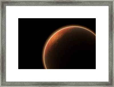 Mars In Space Framed Print