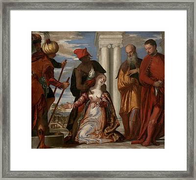 Martyrdom Of Saint Justina Framed Print by Paolo Veronese