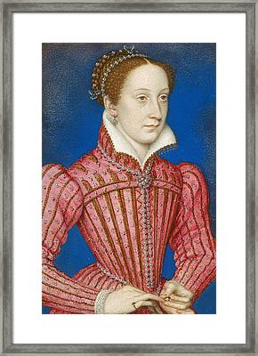 Mary, Queen Of Scots Framed Print by Francois Clouet