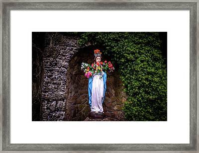 Mary Statue - Knock Shrine - Knock Ireland Framed Print