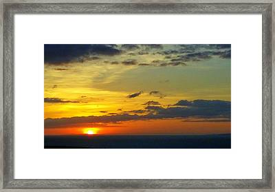 Extraordinary Maui Sunset Framed Print