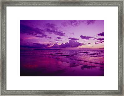 Maui Sunset Framed Print by Ron Dahlquist - Printscapes