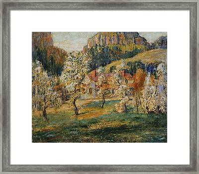 May In The Mountains Framed Print