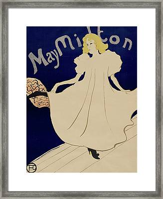 May Milton Framed Print by Henri de Toulouse-Lautrec