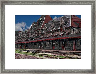 Mcadam Train Station Framed Print