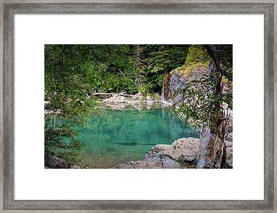 Mcdonald Creek 10 Framed Print by Marty Koch