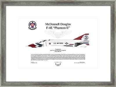 Mcdonnell Douglas F-4e Phantom II Thunderbird Framed Print by Arthur Eggers
