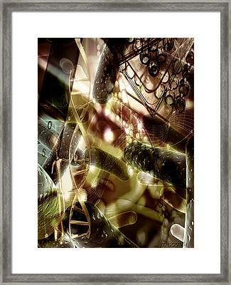 Framed Print featuring the digital art Medils Art by Danica Radman
