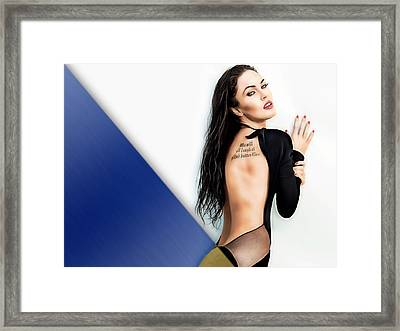 Megan Fox Collection Framed Print by Marvin Blaine