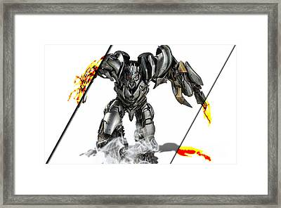 Megatron Transformers Collection Framed Print by Marvin Blaine