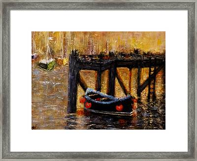 Framed Print featuring the painting Memories.. by Cristina Mihailescu