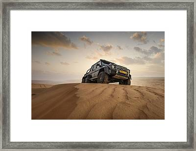 Mercedes G63 6x6 In Oman Desert Framed Print