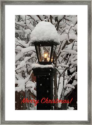 Merry Christmas Framed Print by Donna Kennedy