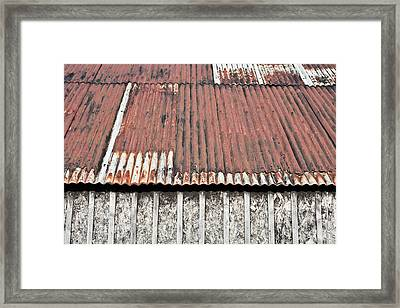 Metal Building Framed Print