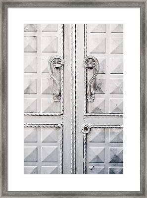 Metal Door Framed Print