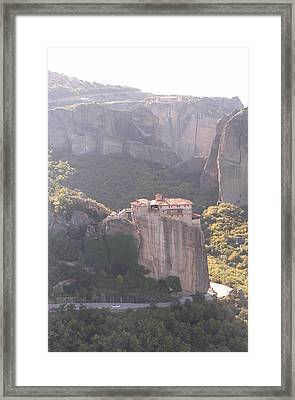 Meteora Greece Framed Print