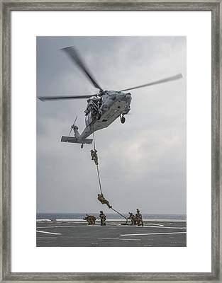 Mh-60s Sea Hawk Helicopter Us Navy Framed Print