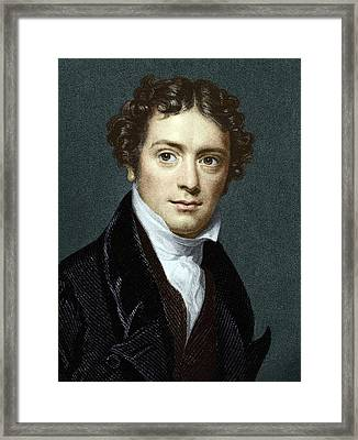 Michael Faraday, British Physicist Framed Print by Sheila Terry