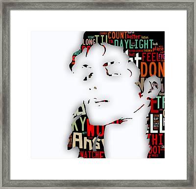 Michael Jackson I'm Bad Framed Print by Marvin Blaine