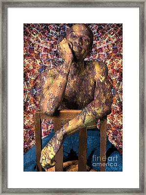 Michael Victorious Framed Print
