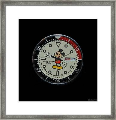 Mickey Mouse Watch Face Framed Print