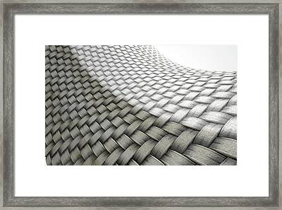 Micro Fabric Weave Comparison Framed Print
