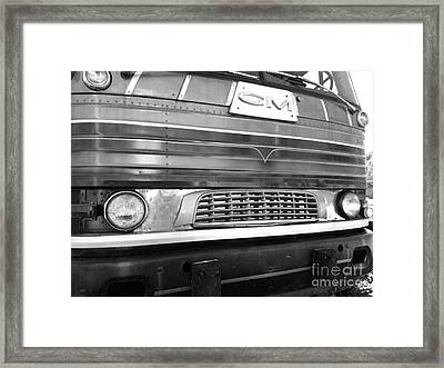 Mid Century Gm Greyhound Bus Front Grill Framed Print by Scott D Van Osdol