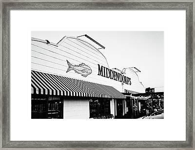 Middendorf's - Bw Framed Print
