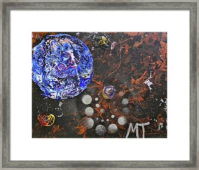 Midnight Transit Planet Framed Print