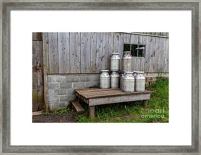Milk Cans Framed Print