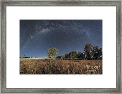 Milky Way Over Parkes Observatory Framed Print