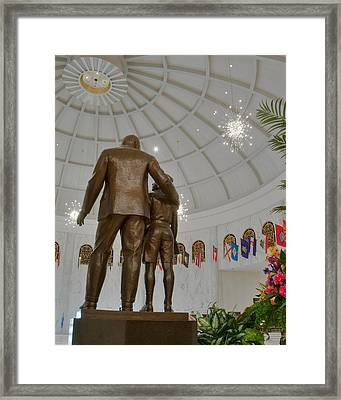 Milton Hershey And The Boy Framed Print