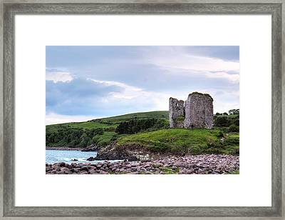 Minard Castle - Ireland Framed Print by Joana Kruse
