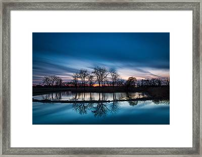 2 Minutes Of Blue Hour Framed Print by Jackie Novak