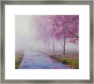 Misty Pink Framed Print by Graham Gercken