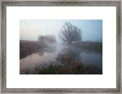 Misty River Nene Framed Print