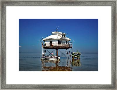 Mobile Bay Lighthouse Framed Print by Mountain Dreams