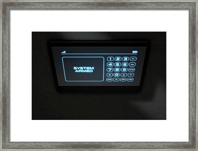 Modern Interactive Home Security Framed Print by Allan Swart