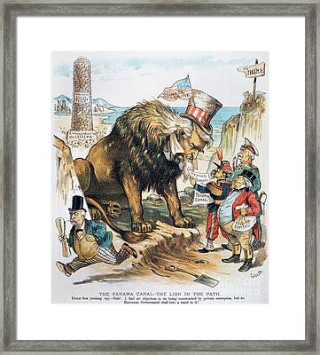 Monroe Doctrine: Cartoon Framed Print