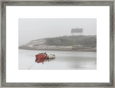 Moody Harbor Framed Print